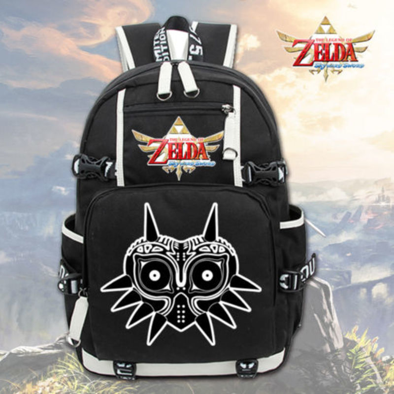 Laptop Backpack Mask Travel-Bags Majora's Game School-Bag Shoulder Sword Breath-Of-The-Wild-Skyward