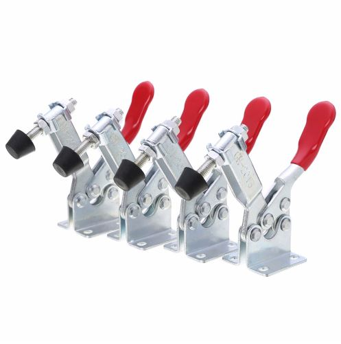 цена на 4 pcs/set Holding Capacity 100Kg Quick Release Vertical Type GH-201b Toggle Clamp Hand Tool Set