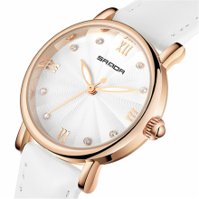 Hot Sale women watches white dial leather strap Japan quartz movement fashion watches dress casual ladies wristwatches P222