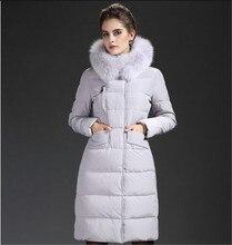 Korea Style 2017 New Winter Women Down Jacket Thickn Hooded Jacket Down Jacket Medium-length High Quality Women Jacket G2097