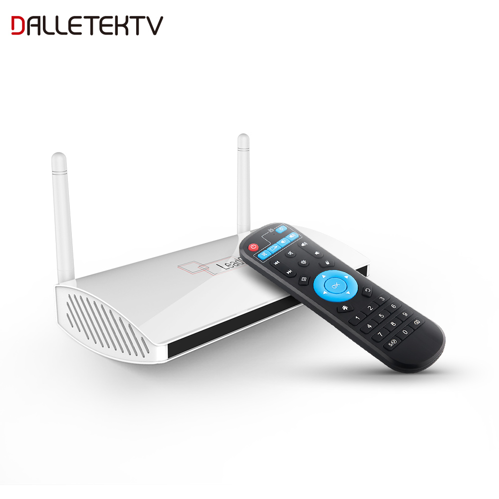 Android TV Receiver Smart Leadcool Android 8.1 TV Box RK3229 1G+8G/2G+16G Quad-Core 4K H.265 Decoder 2.4G WIFI Leadcool Full HD