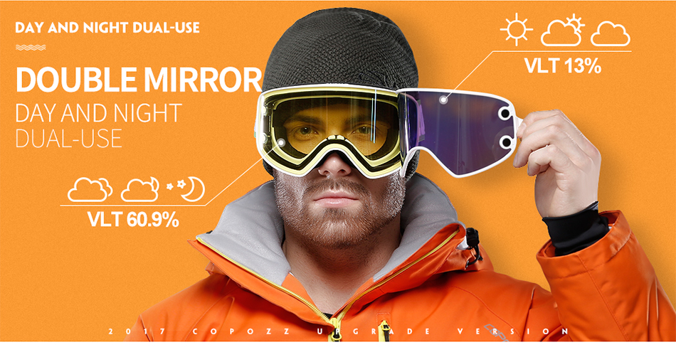 9d1396196a1 Dropwow COPOZZ Magnetic 2 in 1 Ski Goggles with Case 2 Lenses for ...