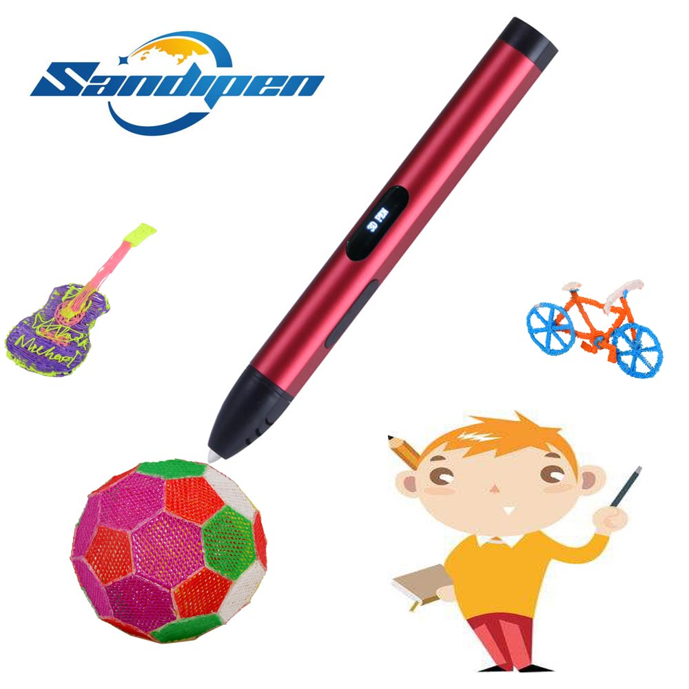 Sandipen ABS/PLA Filament Environmental 3D Drawing Pen 4th Generation Creative Toy Education Gift Kids Design RP61A-H цена 2017