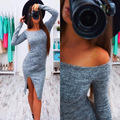 Новый стиль dress с длинными рукавами новинка асимметричный сплошной цвет колен dress империя о-образным вырезом весна casual dress