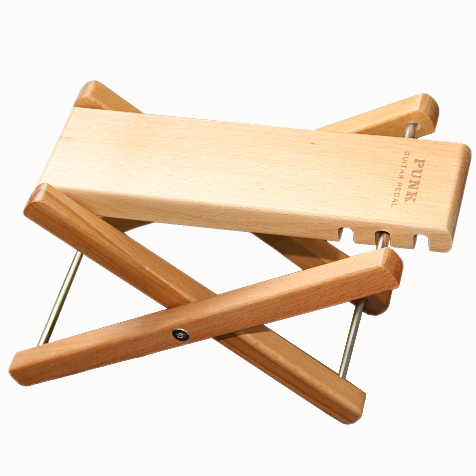 PUNK Solid Wood Footstool Foot Stool Foot Rest for Bass Guitar Playing & Practice gold thumb rest for bass guitar 2pcs
