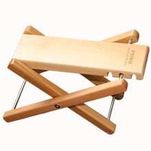 PUNK Solid Wood Footstool Foot Stool Foot Rest for Bass Guitar Playing & Practice