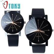 OTOKY Willby Men 2016 new brand Quartz Dial Clock Leather Wrist Watch Round Case 2 Style 161219 Drop Shipping