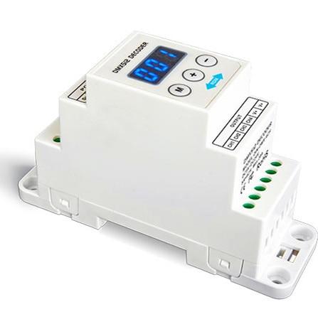 DIN-DMX-4CH;4CH CV RDM/DMX Decoder;DC5-24V input;4A*4CH output din dmx 4ch 4ch cv rdm dmx decoder dc5 24v input 4a 4ch output