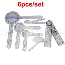 1 комплект, 6 шт., 5 шт., спинальный палец, угломер, транспортиры, полезный мульти-угол линейки, медицинский спинномозговой линейка, 180/360 градусов, измерительный инструмент