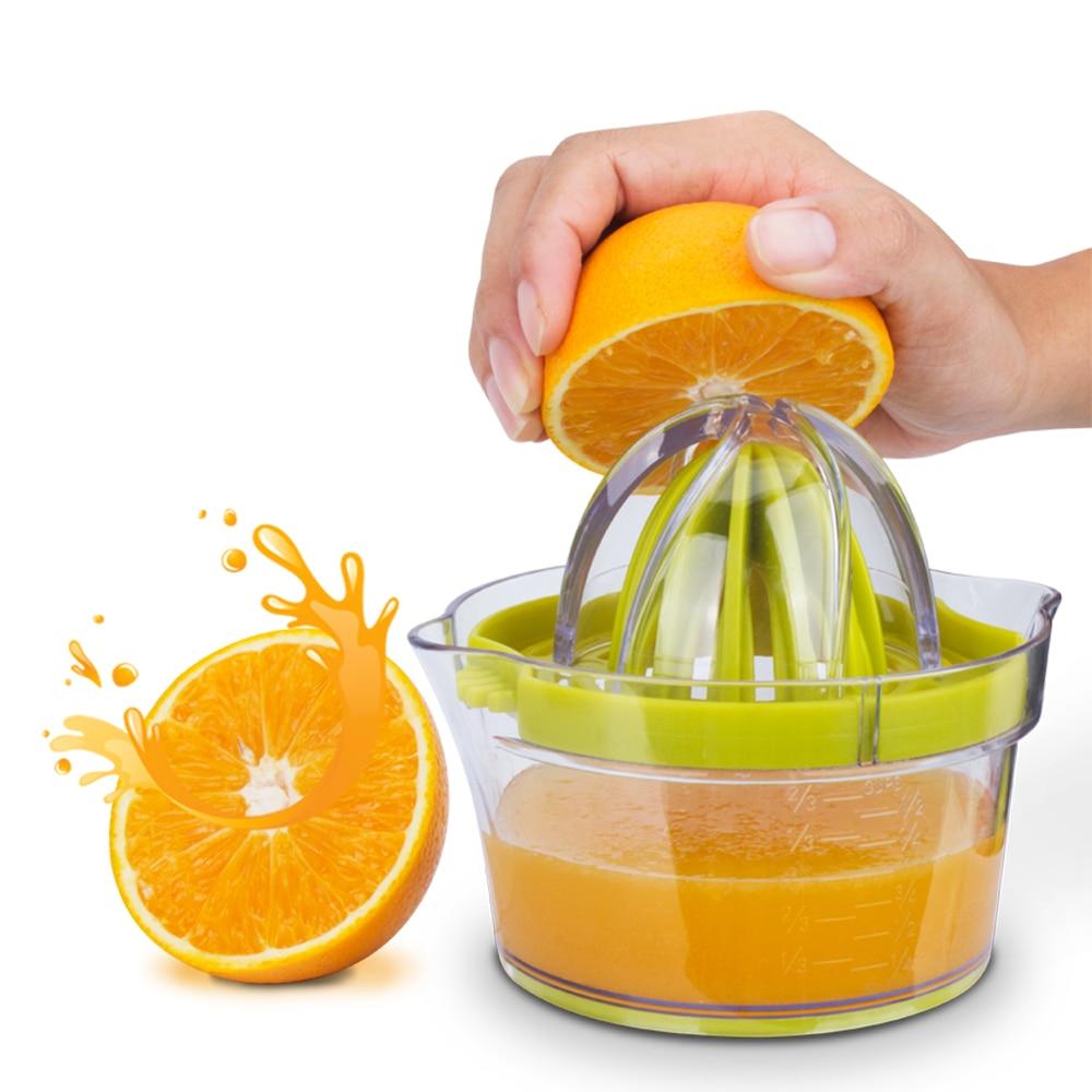Ročni sokovnik Ročaj Oranžna limonin sok s prosojno steklenico - Kuhinja, jedilnica in bar