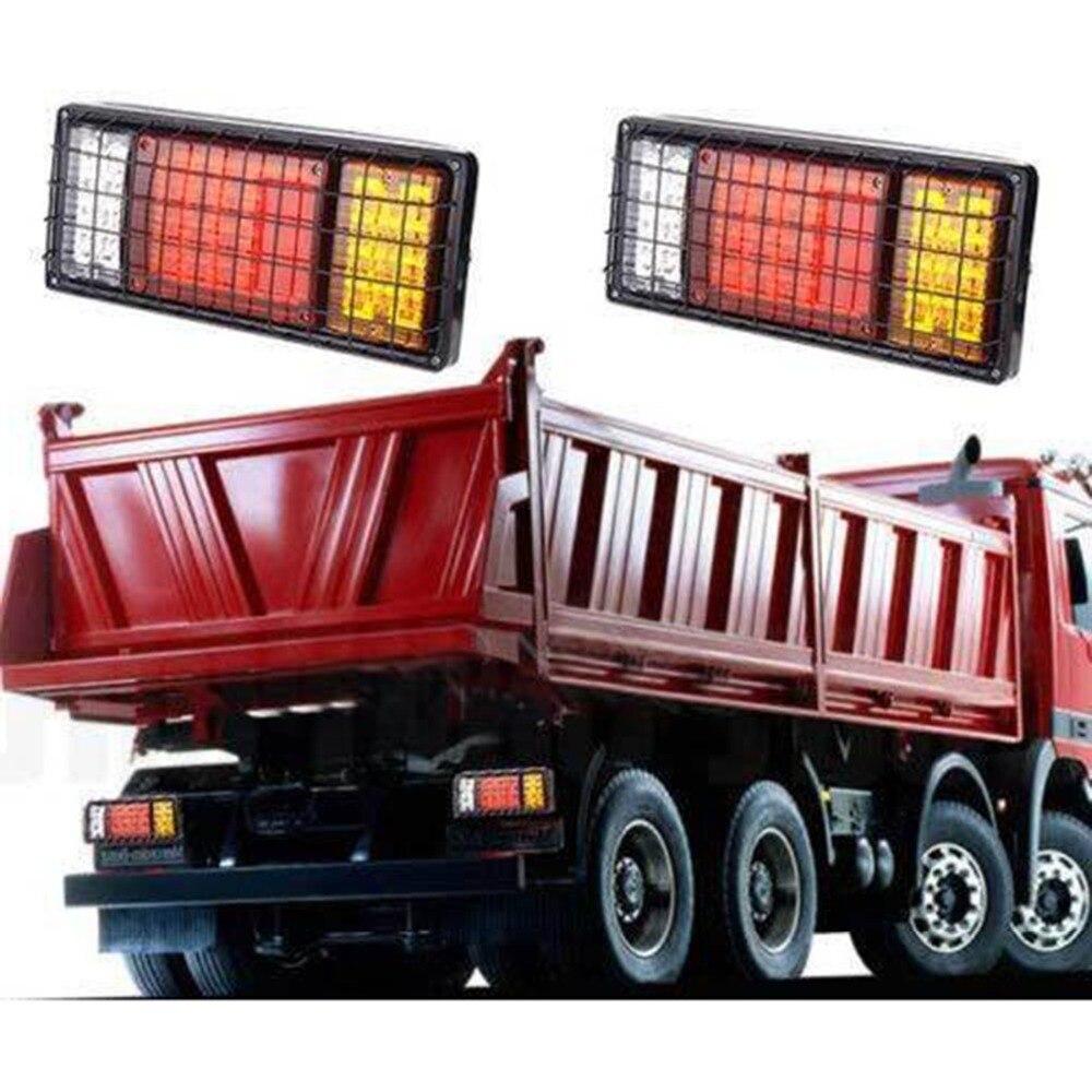 2 pcs 12 V voiture camion LED feux arrière feux arrière lampes arrière Tailight pièces pour la plupart des camions remorques caravas UTE bus vans