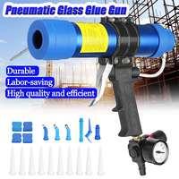 310ML Air Caulking Gun/ Pneumatic Cartridge Dispenser Silicon Sealant Applicator Glass Gluing Tool Construction Caulking Gun/