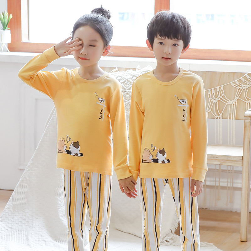 Cotton   Pajamas     Set   For Baby Girls Boys Clothes Pijama Infantil Winter Auntumn Pyjamas Kids Boys Girls   Pajamas   2-13Y Clothing