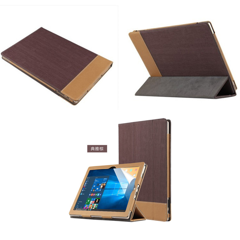 SD Luxury Ultra Slim Canvas Grain Folio Stand PU Leather Book Cover Protective Case For Teclast TBOOK 10 10.1 Tablet PC