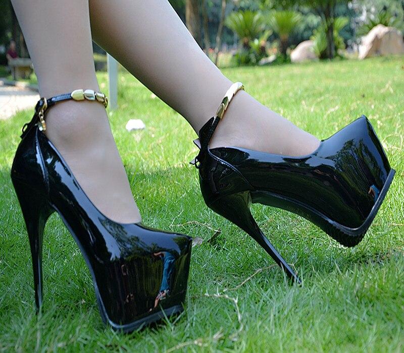Haute A Cm Nouvelle Profonde Mode Bouche Mariage Hauts Noir Peu Belle Talon Noir 16 Talons Femmes Sexy De Chaussures blanc rouge t8fwFw4q