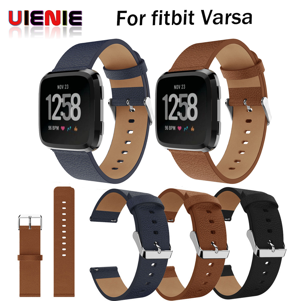 Replacement Watch band Leather wrist Watchband Strap Bracelet Belt for fitbit versa Smart Watch wristband 2018 New Arrival