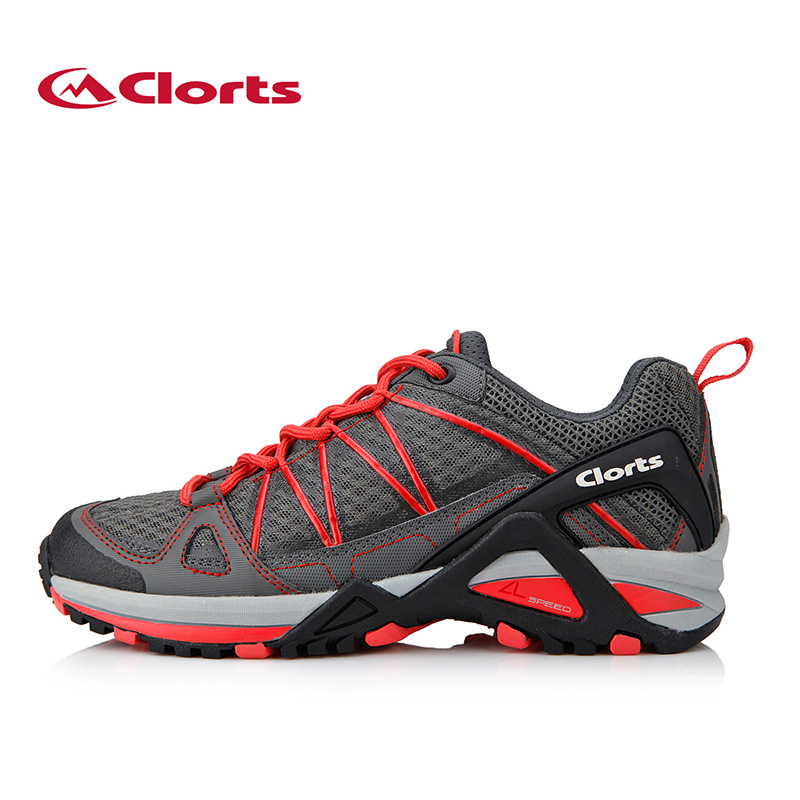 ФОТО Clorts Women Sport Running Shoes PU Mesh Brand Runner Shoes Light Trail Shoes Ant-Slipping 3F015C