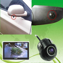 CCD HD night vision car camera front/side /left/right /rear view camera 360 degree Rotation universal car reversing park camera