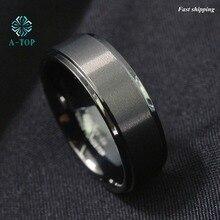 8 мм мужские/женские черные кисть центр карбида вольфрама Обещание кольцо обручальное кольцо Бесплатная доставка