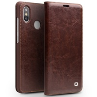 Qialino Real Genuine Leather Case for For Xiaomi 8 Mi8 Mi 8 case for Xiaomi Mi8 Flip Cover Wallet Card Slot Phone Bag