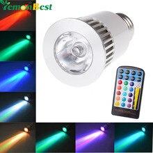 LemonBest E27 светодиодная rgb-лампа лампа Rmote Управление 16 Цвета 4 режима фонарик лампа светодиодный AC85-265V 5 Вт пятно лампочки свет волшебное праздничное