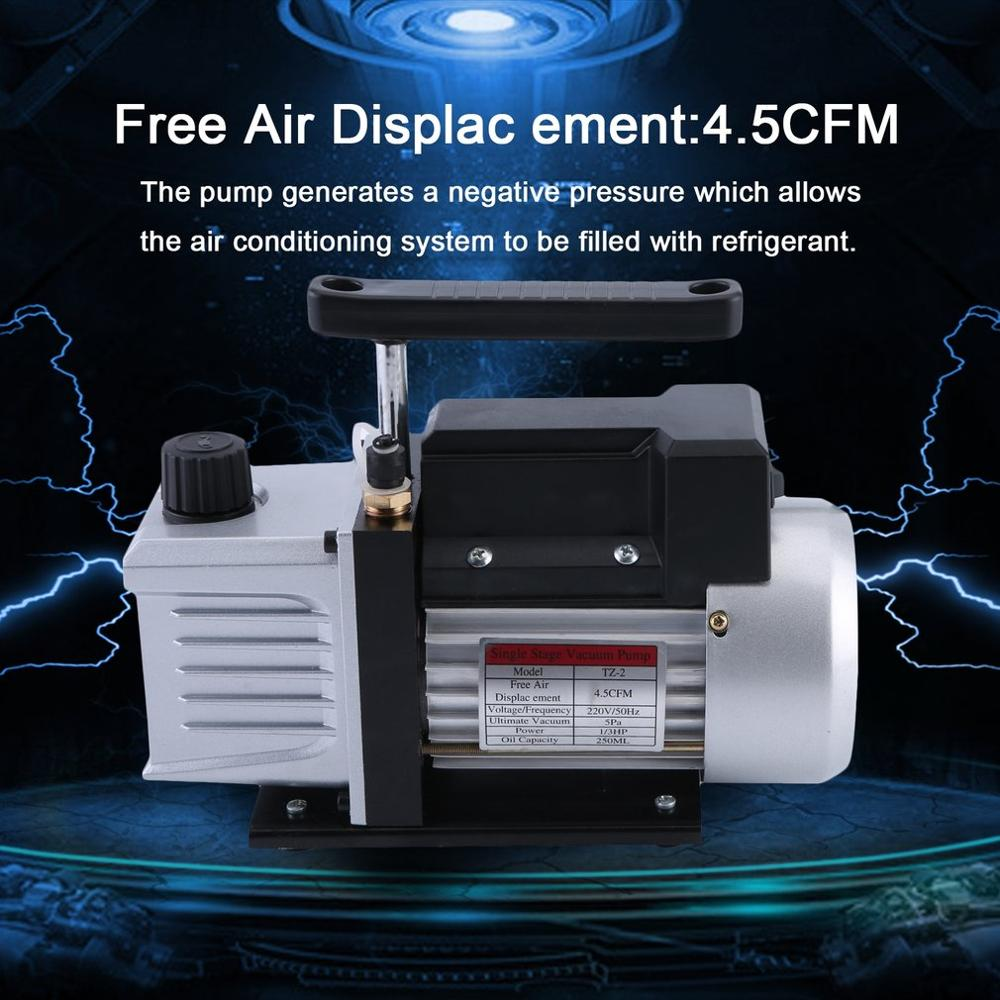 4.5CFM 1/3HP Professional Single Stage Vacuum Pump Suitable For Refrigeration Air Conditioning Systems EU Plug4.5CFM 1/3HP Professional Single Stage Vacuum Pump Suitable For Refrigeration Air Conditioning Systems EU Plug