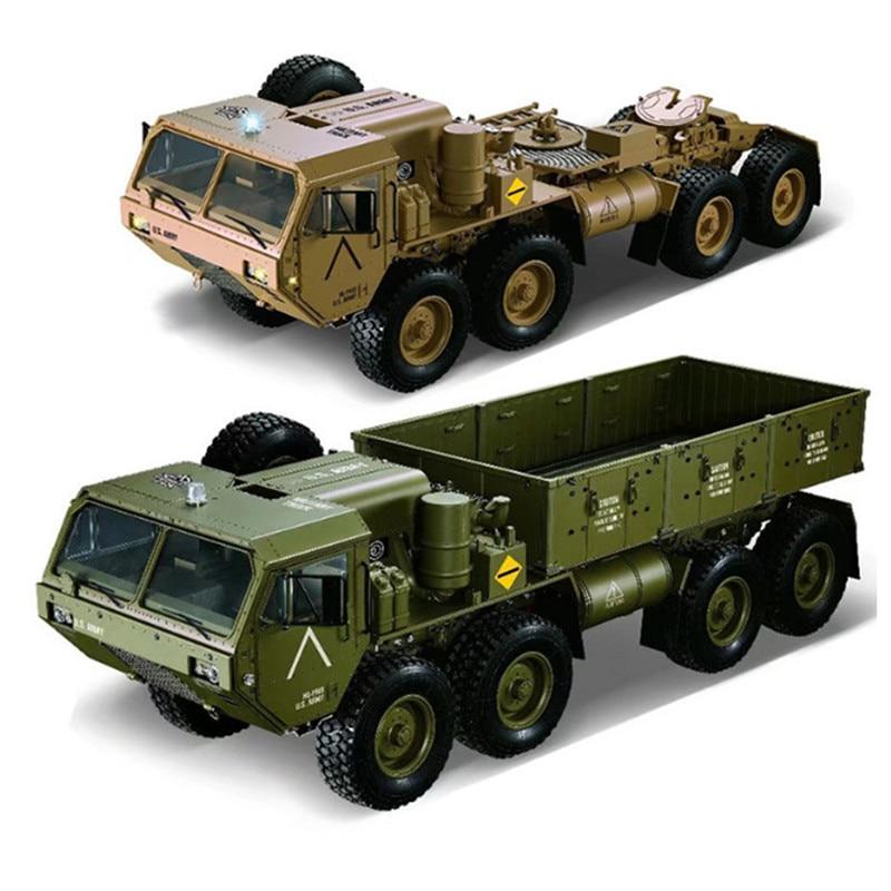 HG P801 P802 1:12 2.4G 8*8 M983 739mm Rc voiture US armée militaire camion sans chargeur de batterie RC Distance 100 m 550 moteur brossé