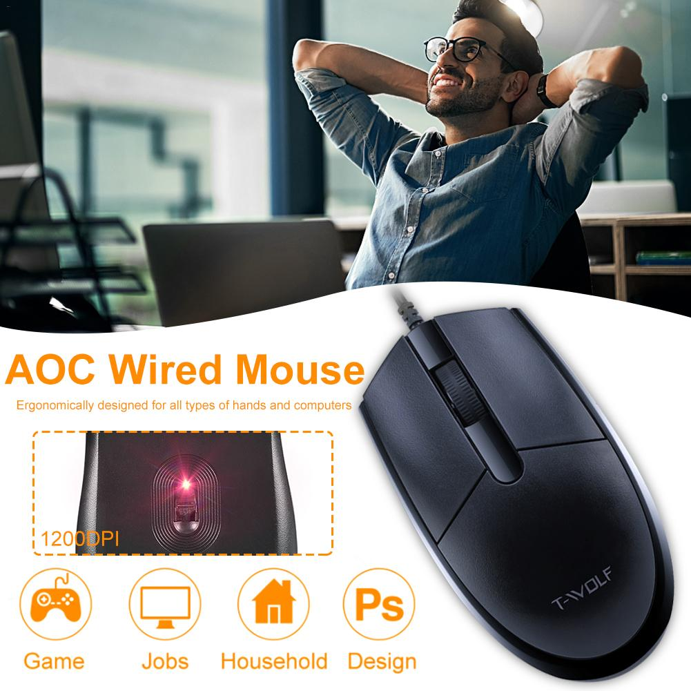 Wired Mouse Computer Playing-Game Laptop Desktop V3 USB for Office Home Universal Peripheral