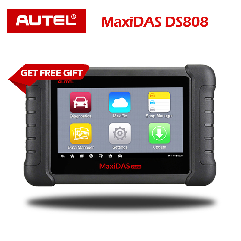 Autel MaxiDAS DS808 OBD2 Scanner Machine Full System Automotive Diagnostic Tool with Key Programming next generation of DS708-in Engine Analyzer from Automobiles & Motorcycles