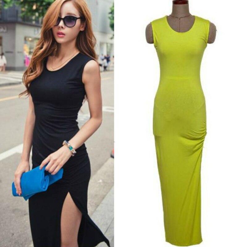 Aliexpress.com : Buy Sexy split Barelegged tank maxi dresses for ...