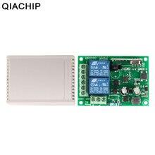 QIACHIP 433 Mhz האלחוטי אוניברסלי מתג AC 85V ~ 250V 110V 220V 2CH ממסר מקלט + RF 433 Mhz שלט רחוק