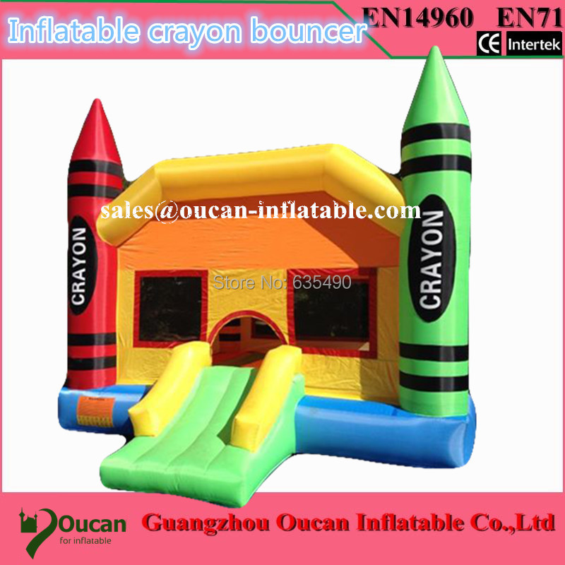 oxford cloth inflatable crayon bouncer, commercial bounce houses, inflatable crayon bounce house crayon