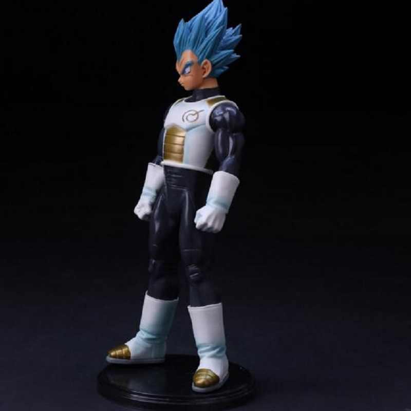 Dragon Ball Z pelo azul VEGETA Pvc MODELO DE figura de acción juguete Super Saiyan VEGETA batalla DIY juguete de exhibición de dibujos animados regalo de cumpleaños