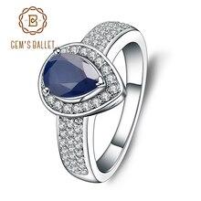 Женский балетный камень 1,29 карат, Овальный натуральный синий сапфир, свадебные украшения из стерлингового серебра 925 пробы, модные ювелирные украшения