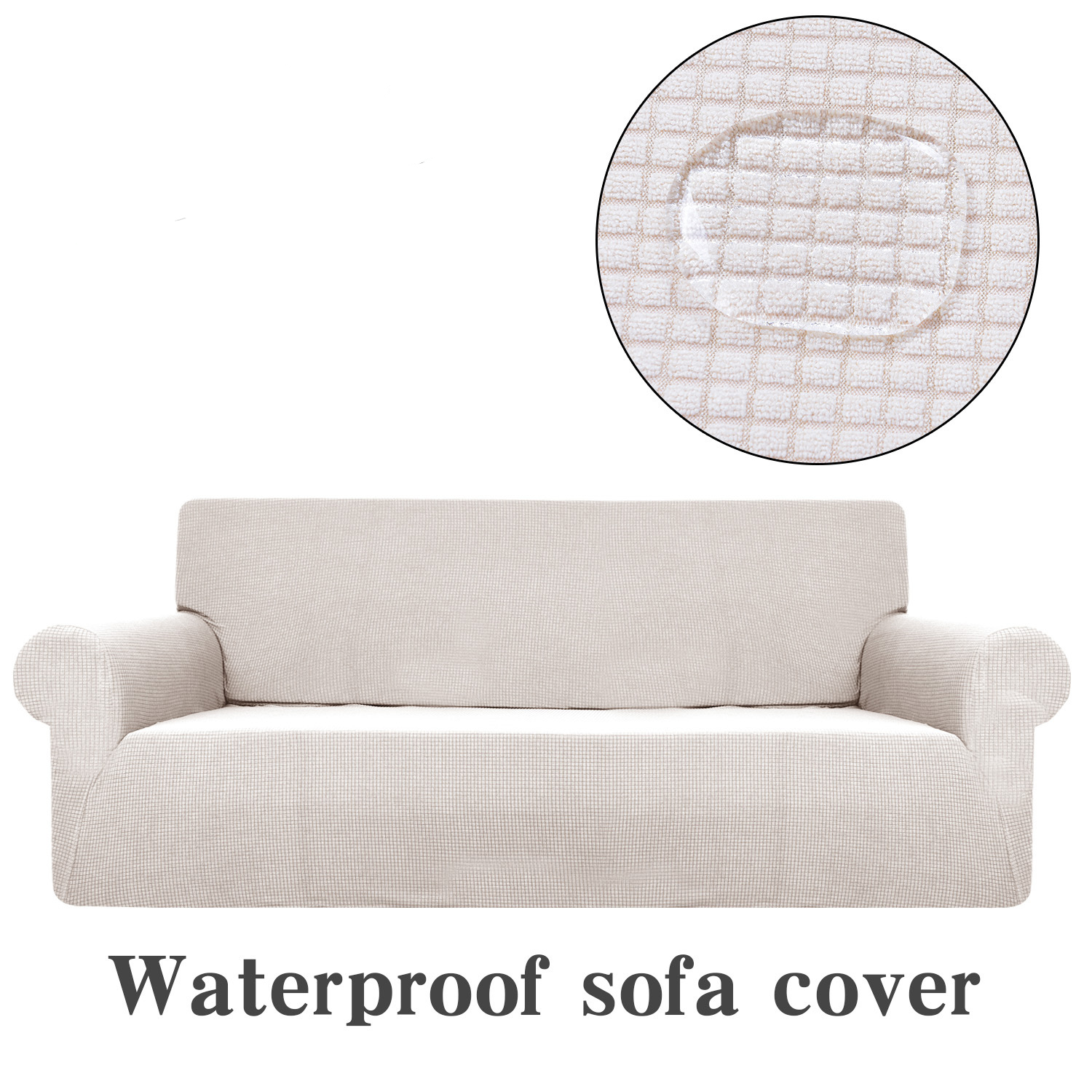 Outstanding Universal Sofa Cover Waterproof Couch Slipcovers Elastic Theyellowbook Wood Chair Design Ideas Theyellowbookinfo