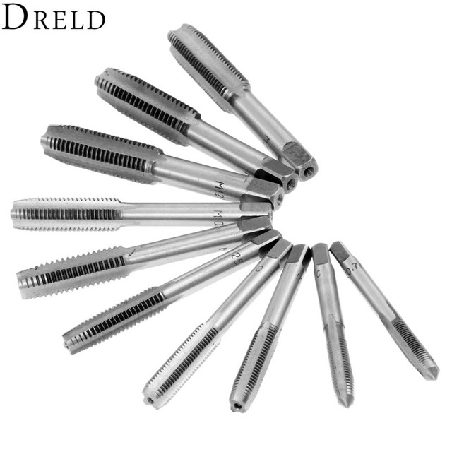 DRELD 10 Stücke Stahl Hand Tippen Gewinde Draht Tippen M6 * 1,0/0,75 ...