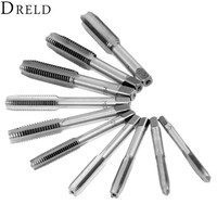 DRELD 10Pcs Steel Hand Tap Thread Wire Tapping M6 1 0 0 75 M7 1 0