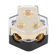 12V 60A 1 In 2 Ways Car Stereo Audio Power Fuse Holder for Car Boat and Other Vehicles Audio Copper Plated цена и фото