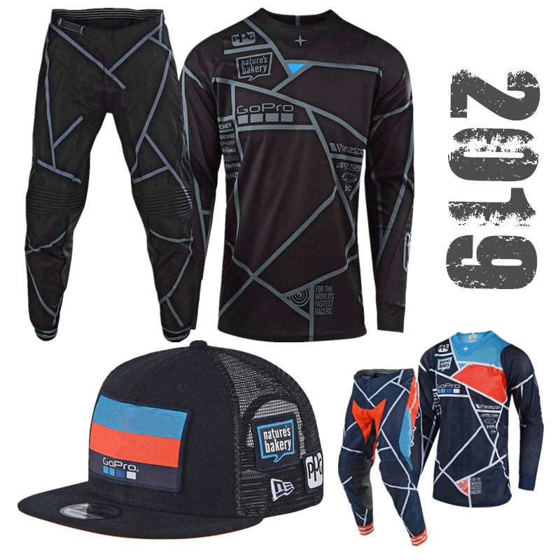 2019 TOP Motocross Gear Set With Snapback Top ATV MX Moto Combos Off Road Motorcycle Jersey And Pant Include Team Cap