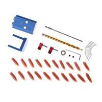 Shanwen Mini Kreg Style Pocket Slant Hole Jig System Kit With Step Drilling Bit Wood Work