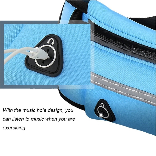 2021 Fashion Waist Pack Men Women Waterproof Phone Belt Nylon Casual Small Bag For Traveling Running Sport Belly Bags 6