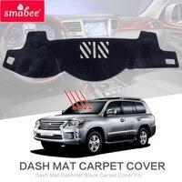 smabee Dash Mat For LEXUS LX570 2007 2014 LX450 470 Dashmat Black Carpet Car Dashboard Automotive interior