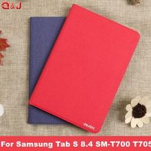 Case for Samsung Galaxy Tab S 8.4 Ultra-thin PU Leather Auto-sleep Magnet Cover for Samsung Tab S 8.4 SM-T700 T705 case недорго, оригинальная цена
