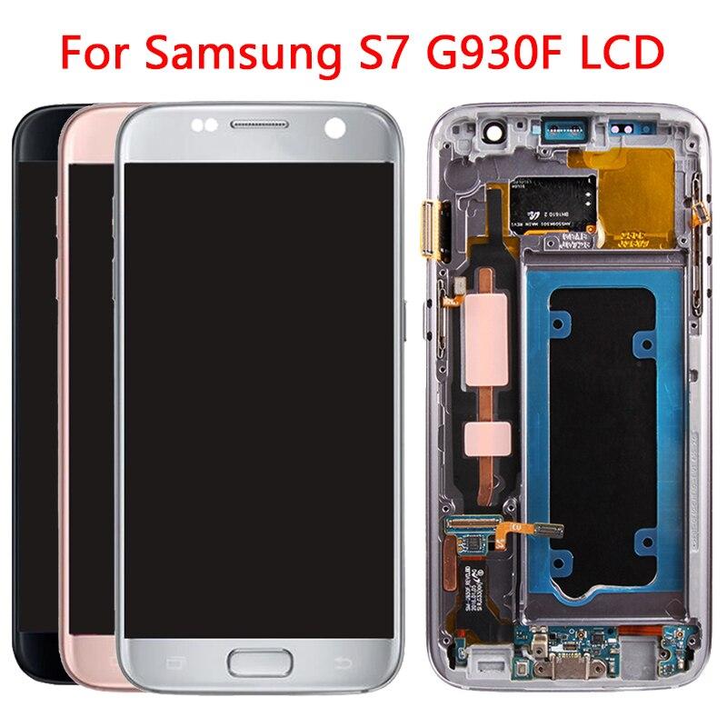 Original G930 LCD pour Samsung Galaxy S7 LCD écran tactile avec cadre numériseur assemblée pour Samsung G930 G930F écran LCD
