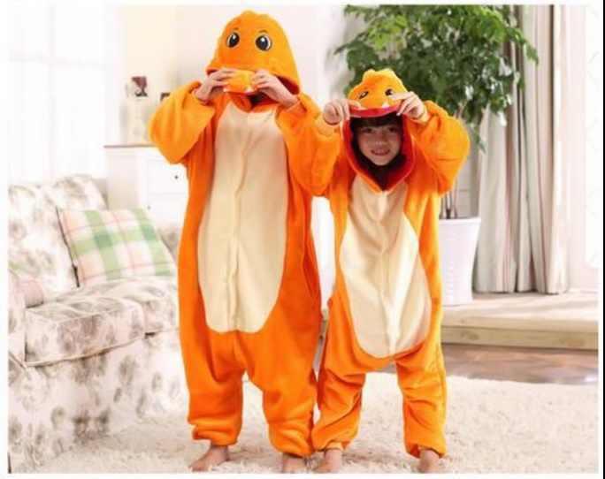 ... Покемон костюмы пижамы для обувь девочек мальчиков ребенок Покемон  чармандер костюм Толстовка onesie Пикачу дети комбинезоны ... d95c99b4ea571