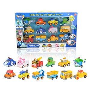 Детские игрушки Robocar Poli Amber Roy, 12 шт./кор. Корея, Игрушечная модель автомобиля, аниме-фигурка, автомобиль, лучшие подарки для детей