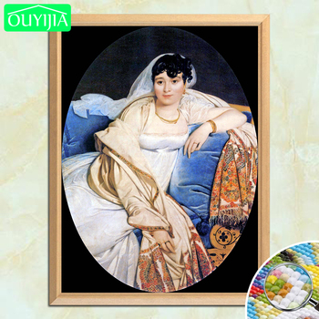 Famous Painter Ingres Madame Riviere 5D DIY Diamond Painting Full Square Diamond Embroidery Sale Rhinestones Mosaic Picture image