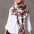 ZALA Marca das Mulheres Cachecol de Inverno Moda Xadrez Acrílico Macio Cobertor quente Shalw cachecol 140 CM x 140 CM