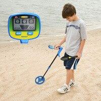Newest Science Education Kid Metal Detector Parents Kids Activity Beach Treasure Hunting Detect Coins Tool