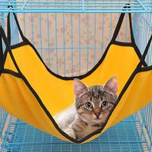 Durable Kitten Cat Fleece Hammock Comfortable Soft Hanging  Pure color Pet Cage 2019 new Bed Cattery Mat